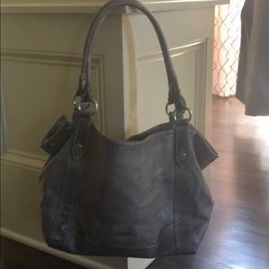 Frye Gray weathered Handbag